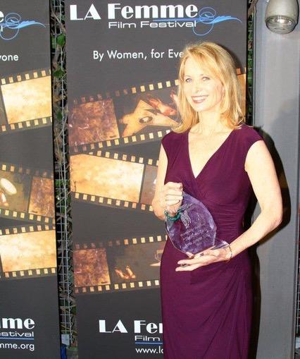 Picking up the Filmmaker Award at La Femme Film Festival (1).jpeg